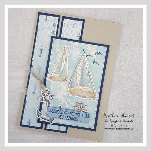 Handmade greeting card using Sailing Home bundle from Stampin' Up!