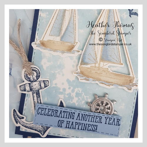 handmade card using stampin' Up! craft supplies, sailing home bundle