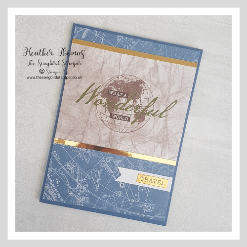 World of Good Memories and More cards used to make a handmade greeting card