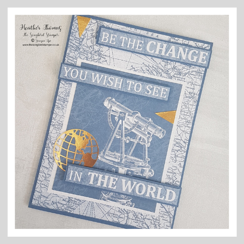 A Handmade greeting card using the World of Good Memories and More cards from stampin' Up!