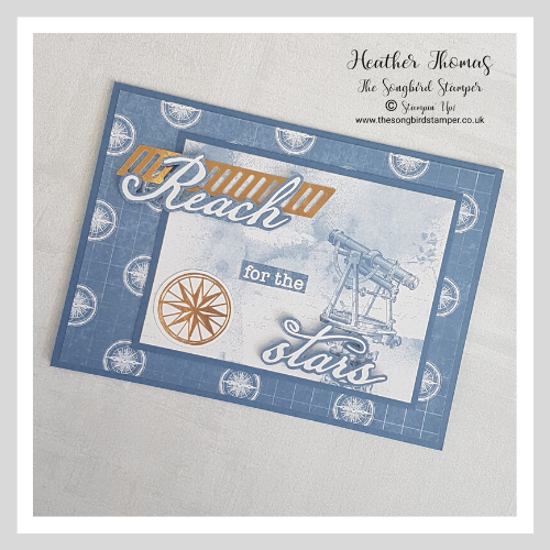 Handmade greeting card using the World of Good Memories and More cards from Stampin' Up!