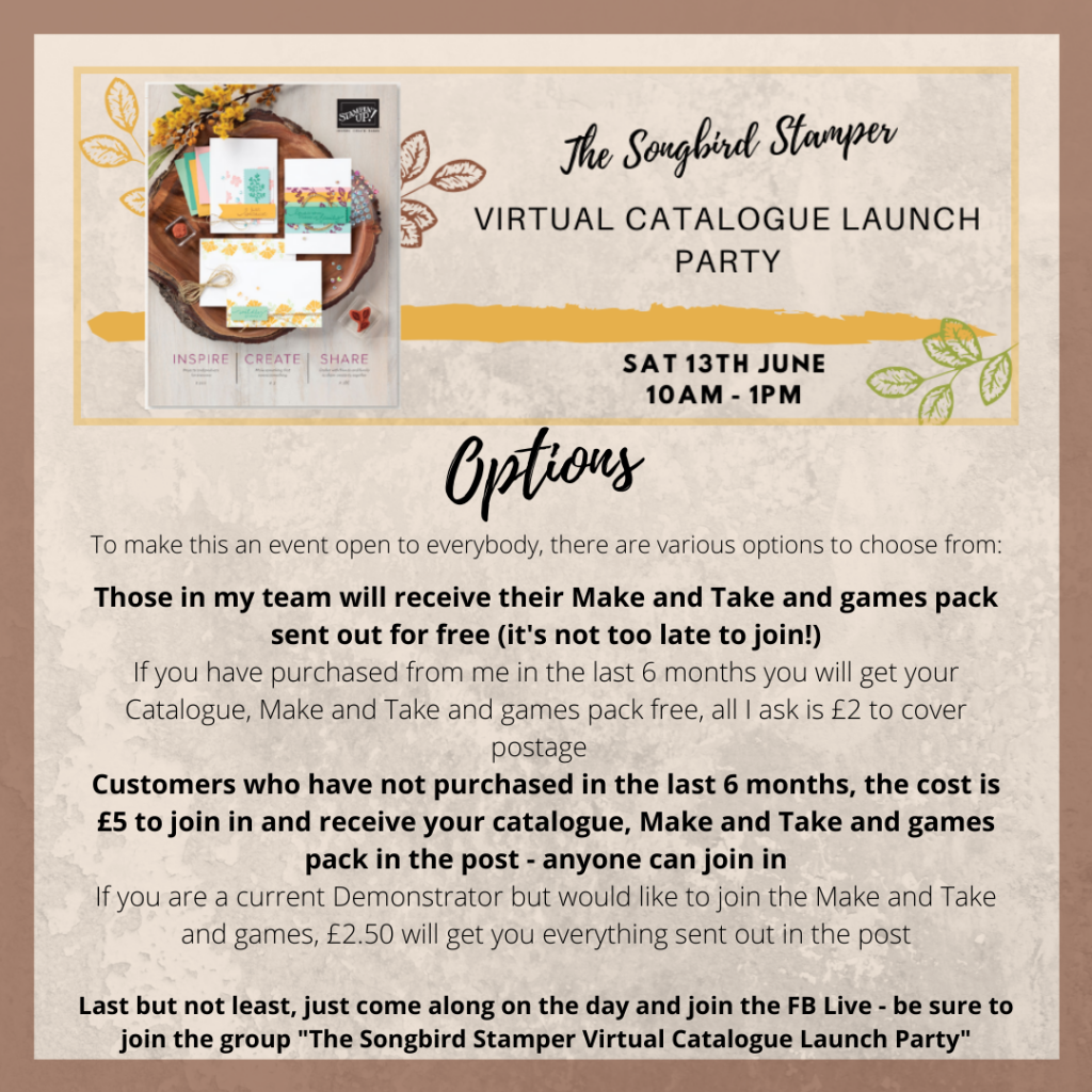The Songbird Stamper Virtual Catalogue Launch Party