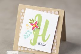 Stampin' Up! Monogram Messages stamp set