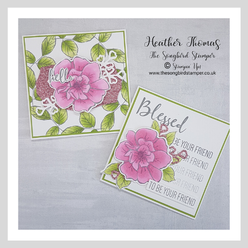 I show you how to use the Stamparatus to make these two gorgeous cards