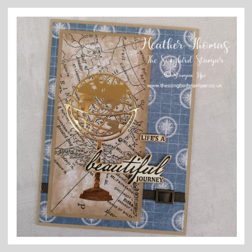Handmade card using the Beautiful World Bundle and World of Good Speciality Designer Series Paper