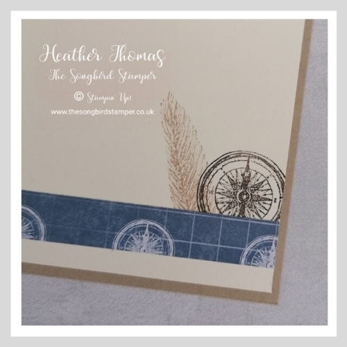 Inside of the card, decorated to co-ordinate with the Beautiful World bundle