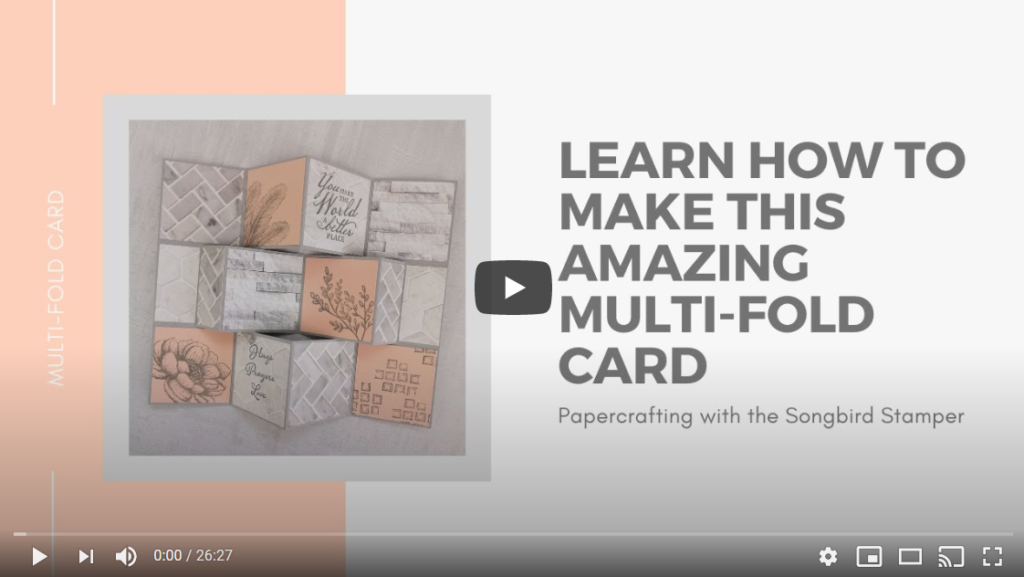 Learn how to make this amazing Multi-fold Card - YouTube Video