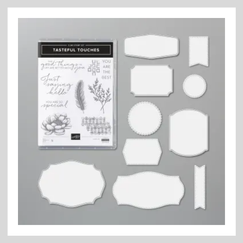 Tasteful Touches, the bundle used to create the multi-fold card.