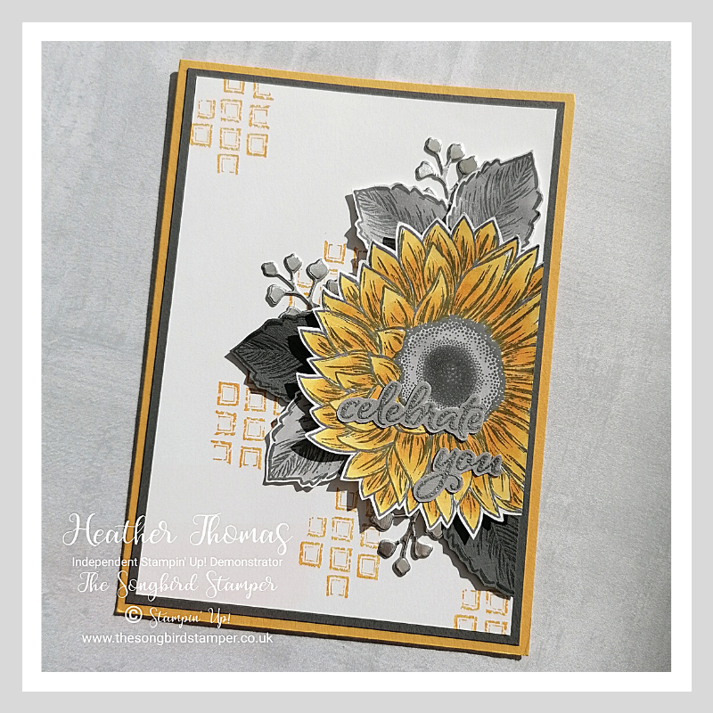 Celebrate Sunflwers Card using products by Stampin' Up!