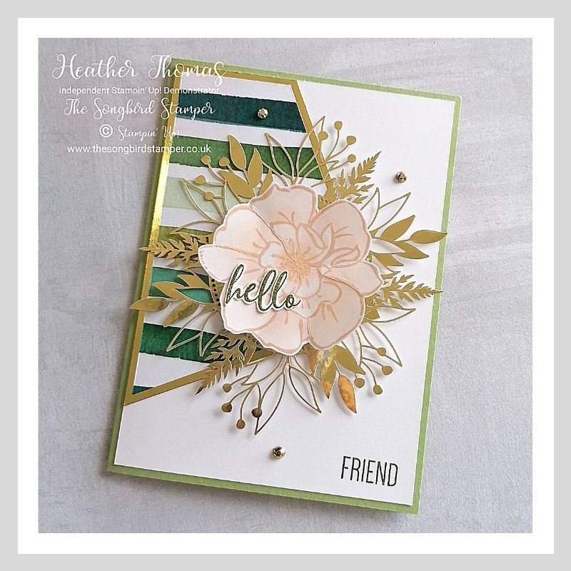 Forever Greenery meets To a Wild Rose handmade card