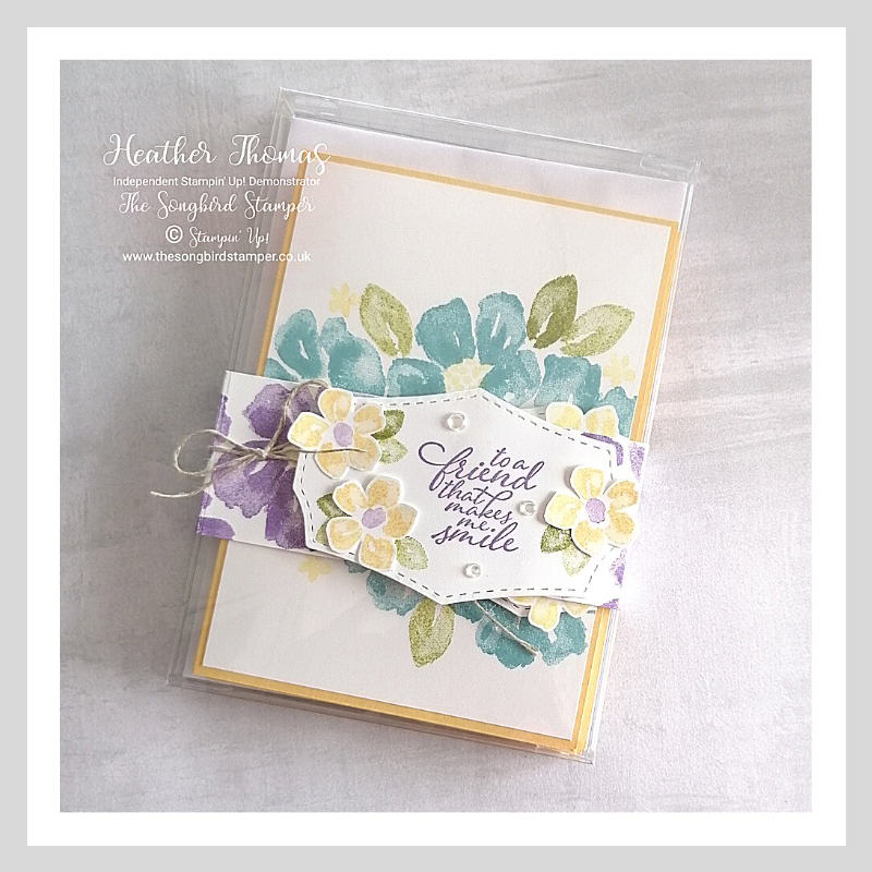 Blossoms in bloom birthday cards set in an acetate card box