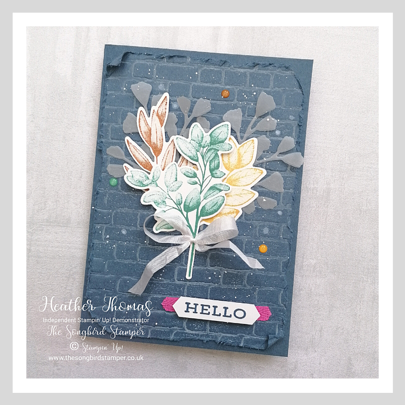 Handmade card using the Stampin' Up! 2020 - 2022 In colours