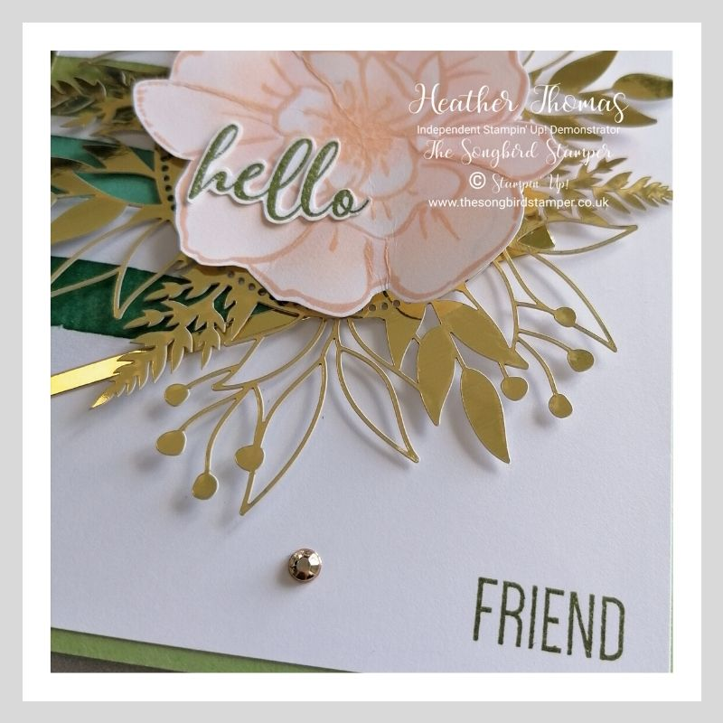 Close up of my Forever Greenery meets To a Wild Rose card