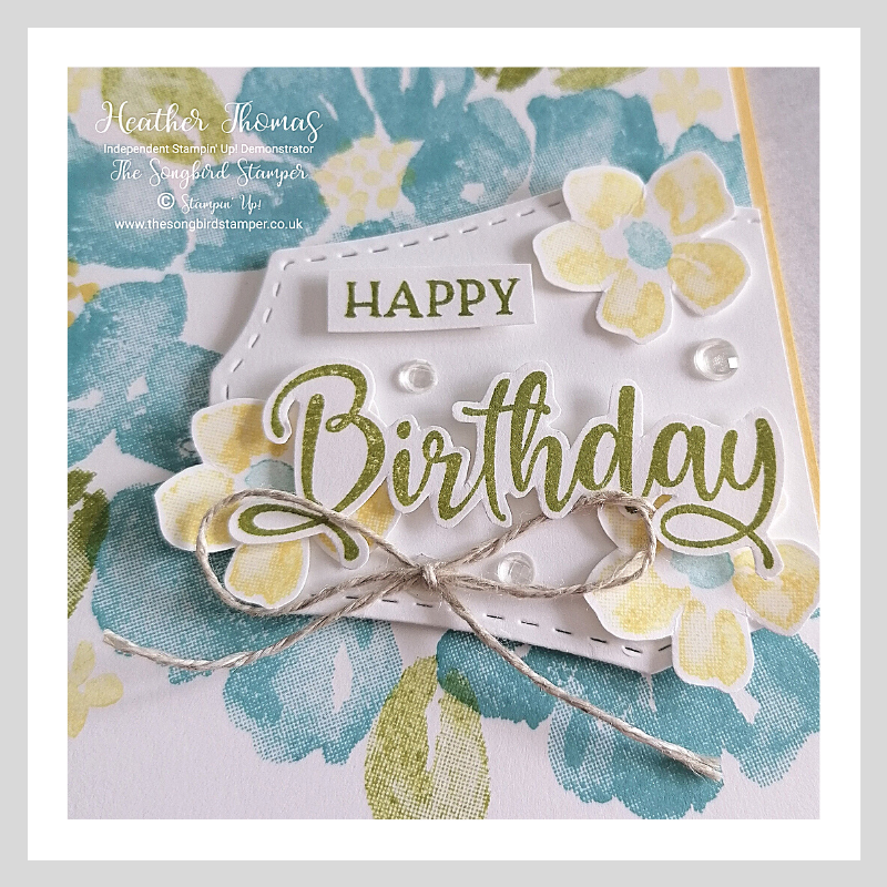 close up of the blossoms in bloom birthday card
