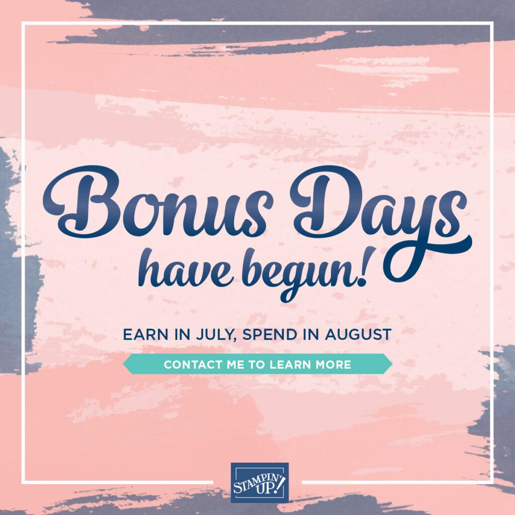 Stampin Up Bonus Days graphic