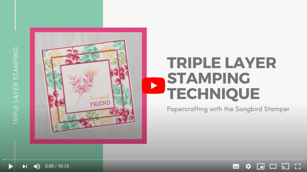 Video of the Triple Layer Stamping Technique