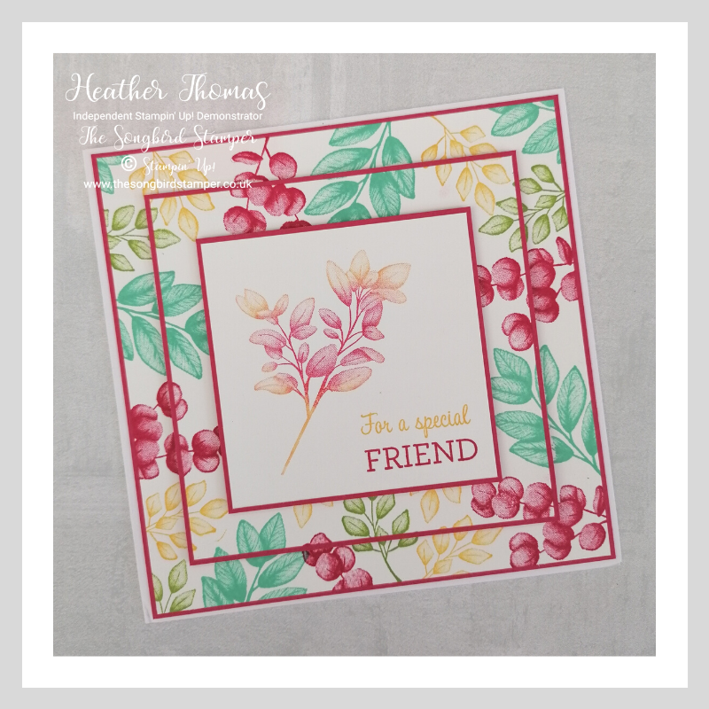 A bright and cheerful card using the Froever Fern stamp set and showcasing the Triple Layer Stamping Technique