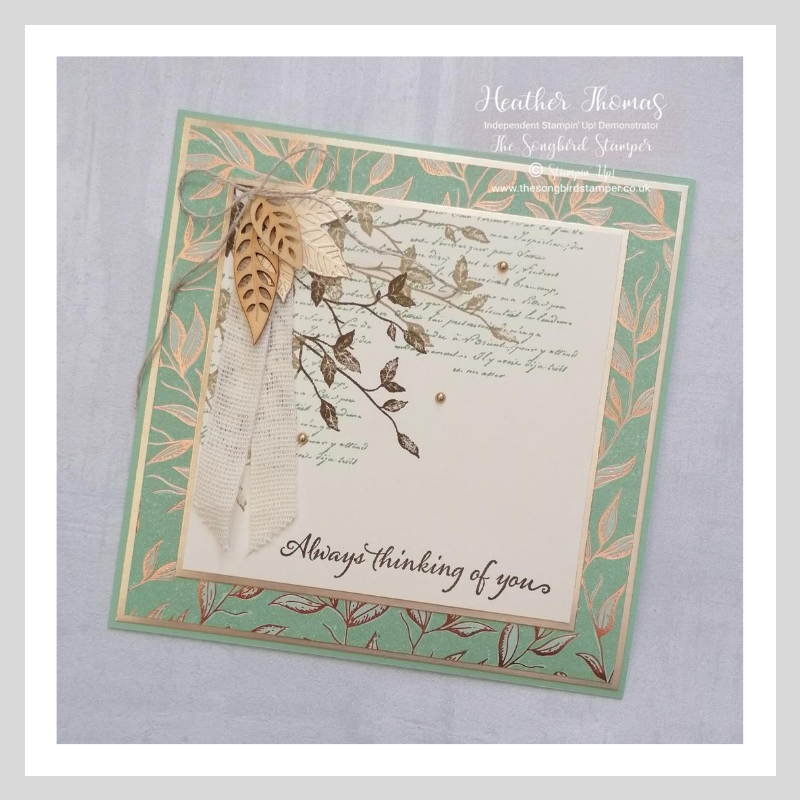 handmade card which mix and matches different stamping supplies