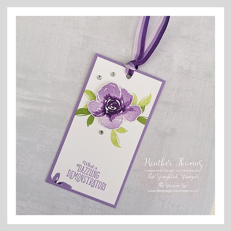 A tag, or Bookmark, made using the All Things Fabuoous stamp set from stampin' Up!