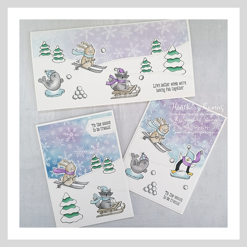 A trio of quick and easy Christmas Cards