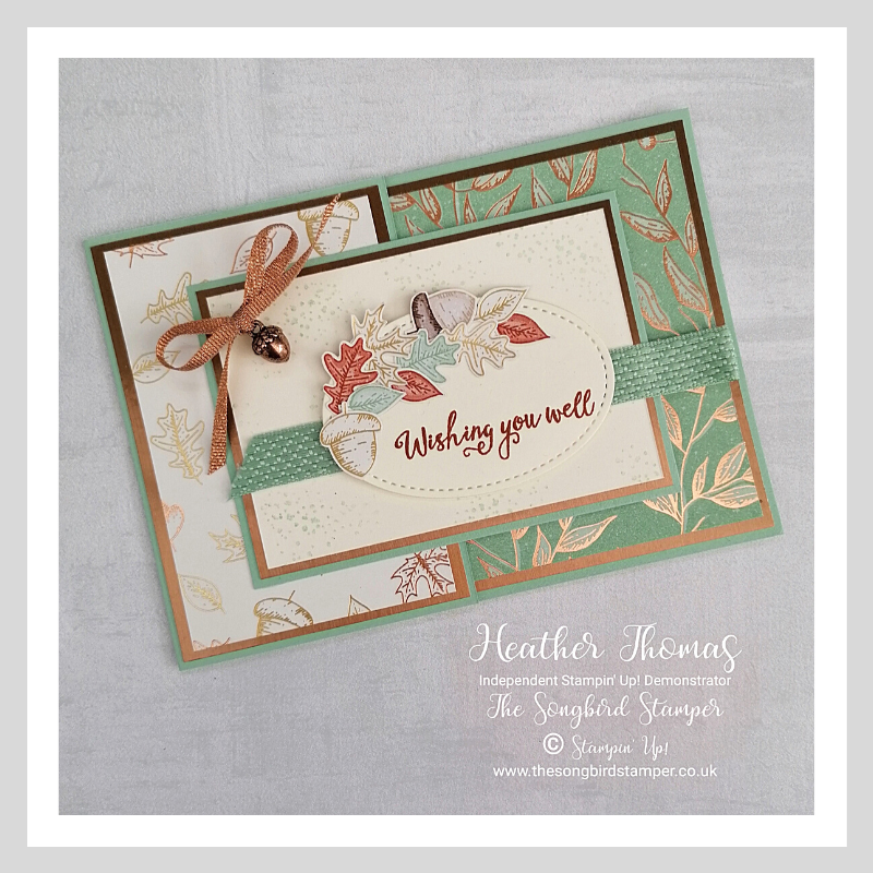 A handmade greeting card using the Gilded Autumn Speciality DSP