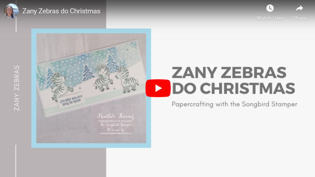 Facebook replay of my Zany Zebras do Christmas card