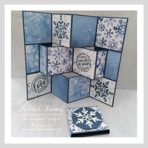 A fancy fold card using the Snowflake Splendor suite of products by Stampin' Up!