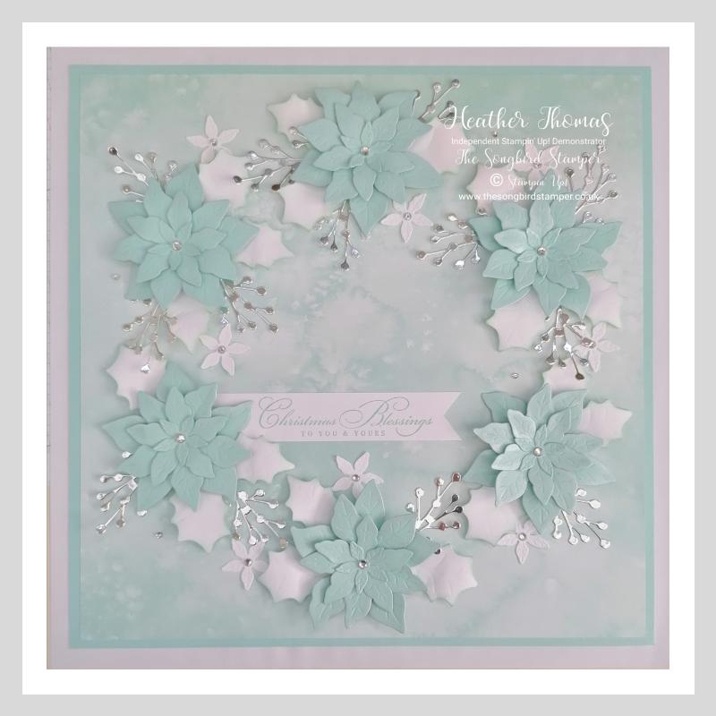 My handmade Poinsettia Petals Box Frame