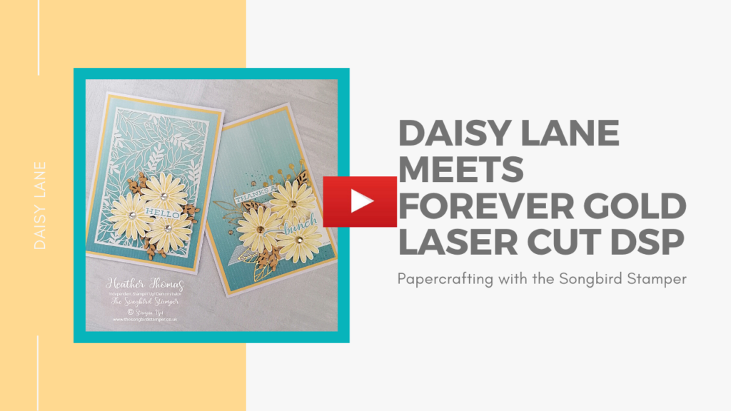 Facebook Live replay where I make the beautiful daisy thank you card and a lovely Hello card.
