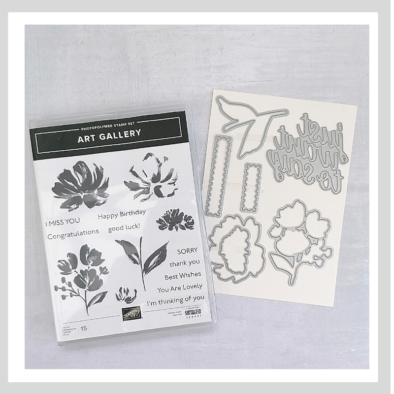 Using the new Art Gallery Bundle from Stampin' Up! you can easily make a card for any occasion