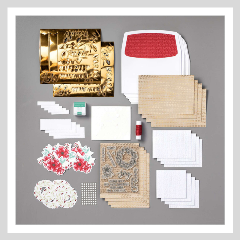 The contents of the Joy to the World Paper Pumpkin kit