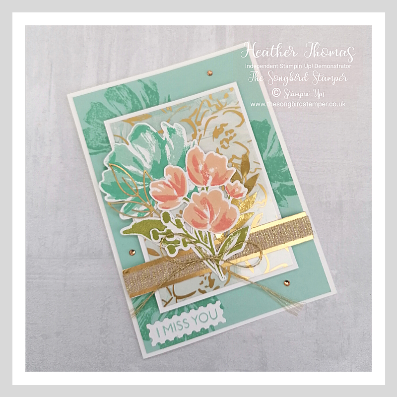 A handmade card using the Fine Art Floral suite of products from Stampin' Up!