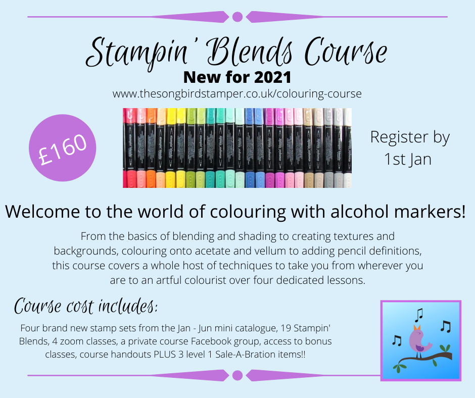 A detailed overview of the contect for the 'how to colour with alcohol markers' course.