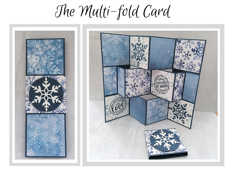 Multifold card, a free tutorial when you sign up to my newsletter