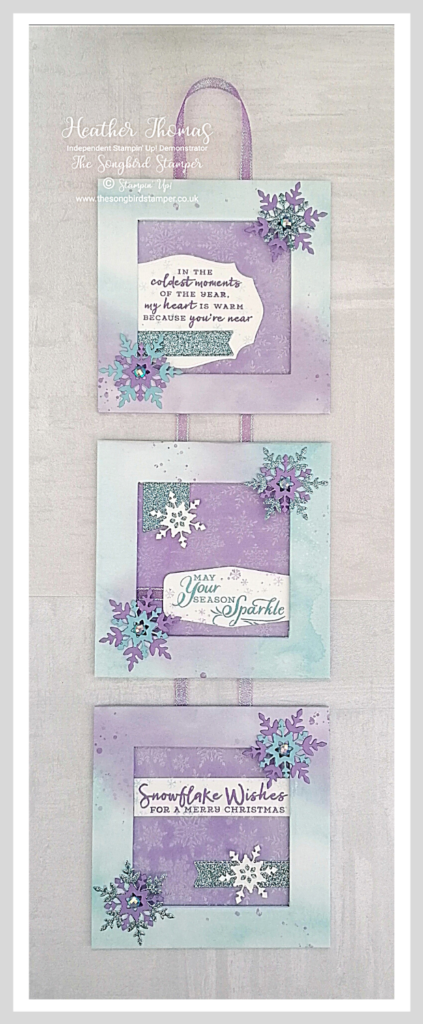 My 'make something a little different' project using the Snowflake Splendor suite of products from Stampin' Up!