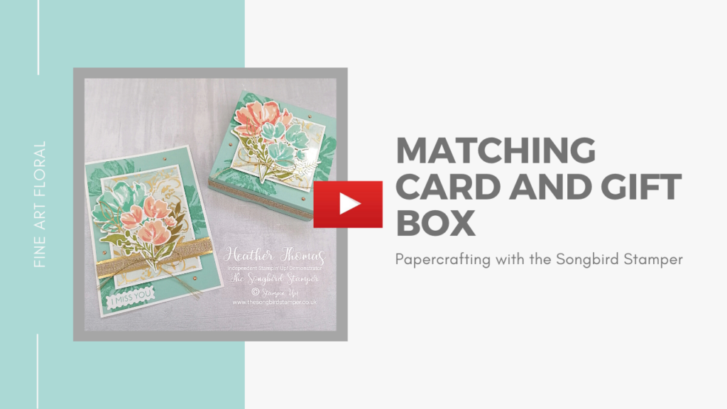 how to make a gift box, with matching card