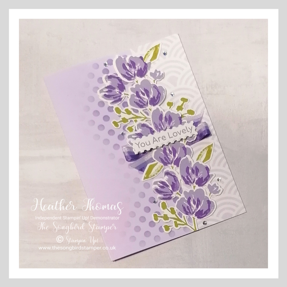 I used the catalogue for easy card inspiration when making this handmade card using the Art gAllery stamp set