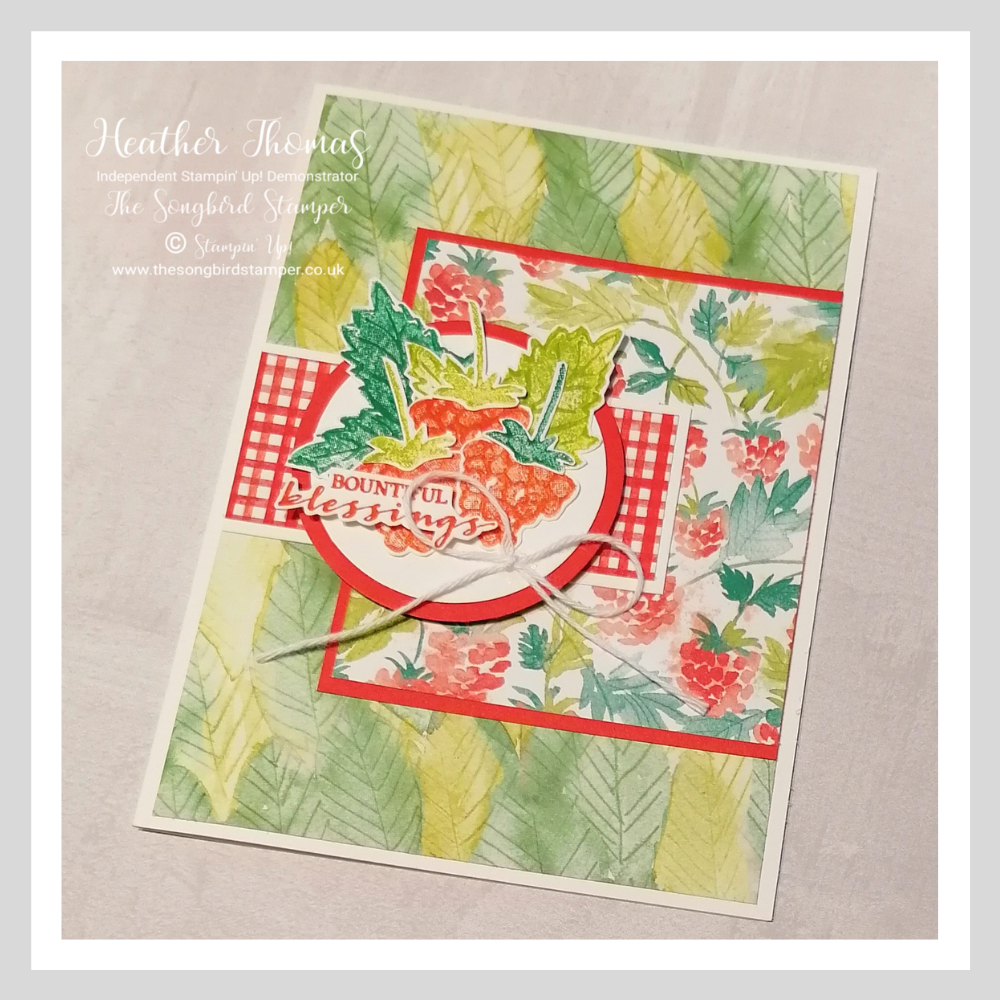 How to use Designer Series Paper, on a handmade card