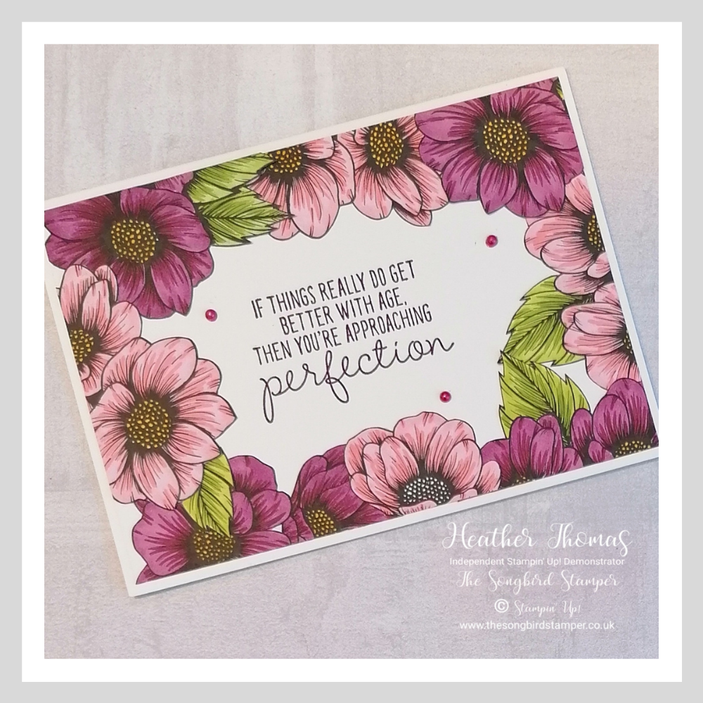A handmade card using the new True Love Designer Series Paper from Stampin' Up!