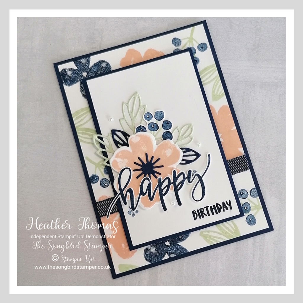 My card for the #GDP273 Colour Challenge with Pretty Perennials stamps and dies