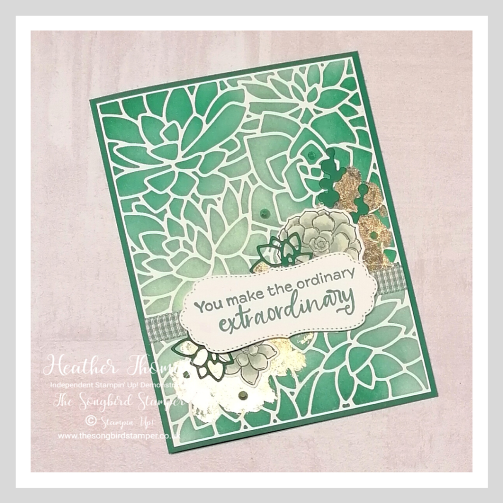 A handmade card for the GDP#274 sketch challenge using the Simply Succulents bundle from stampin' Up!