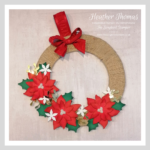 a decorative christmas wreath made during an online craft class