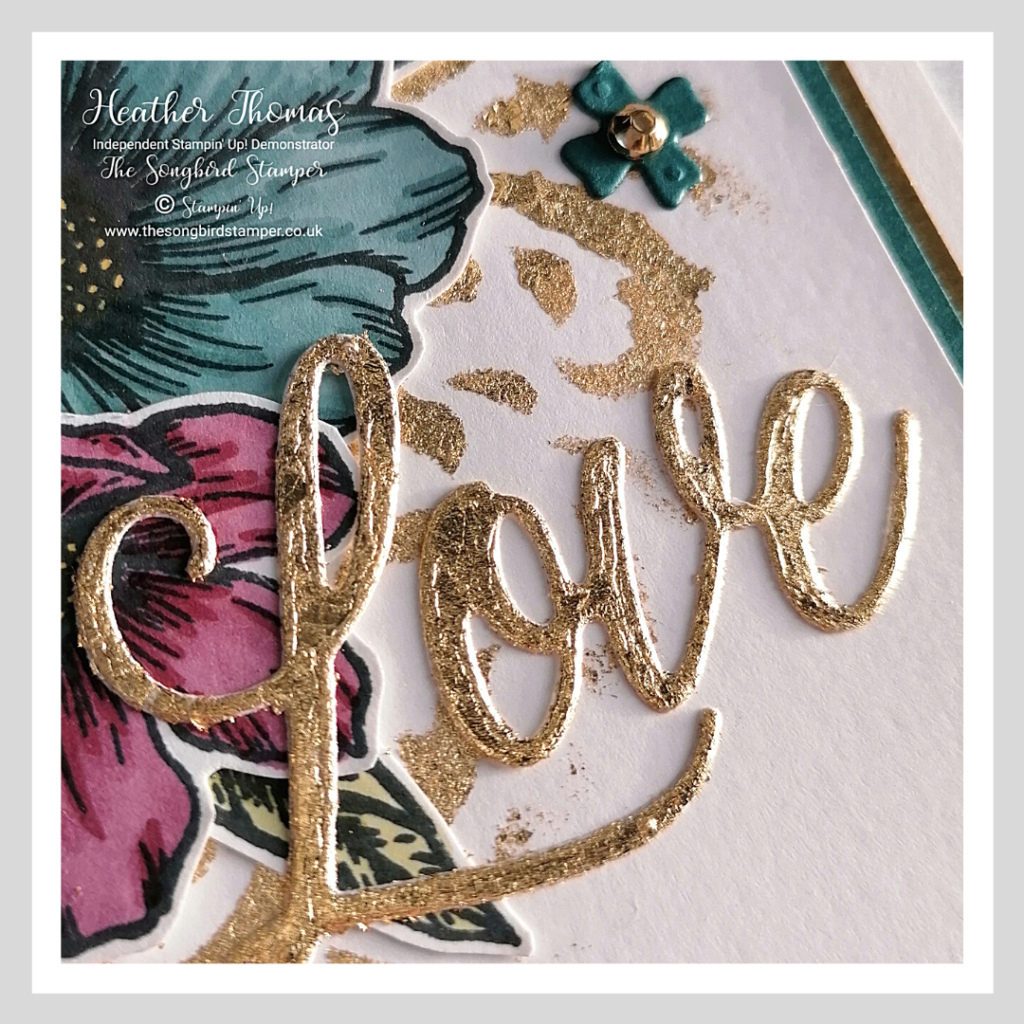 A close up of a handmade card made using the Forever and Always stamp set from Stampin' Up!