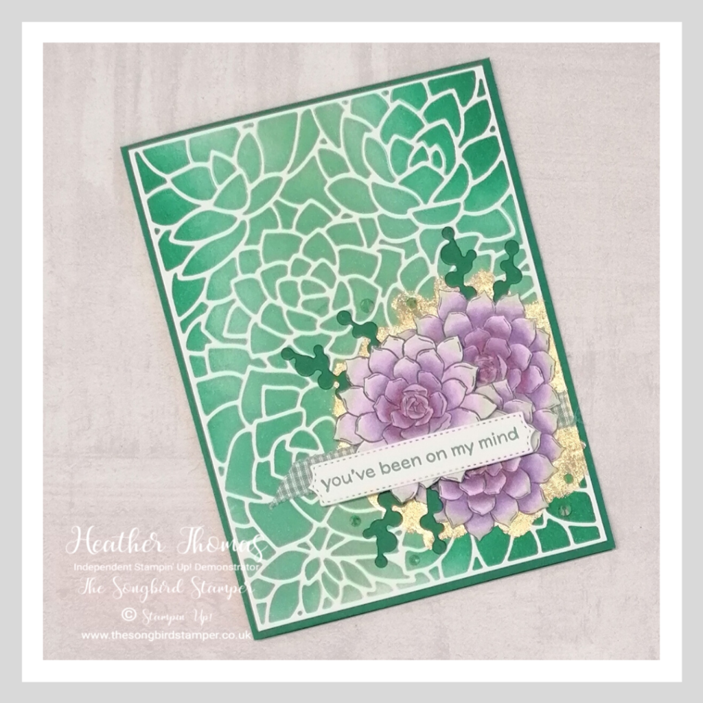 A handmade card made for the 'New Year New Technique' by the Casual Crafters using the Simply Succulents bundle from stampin' Up!