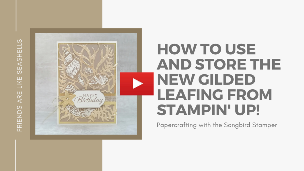 A picture of a YouTube thumbnail for the how to use and store gilding flakes video.
