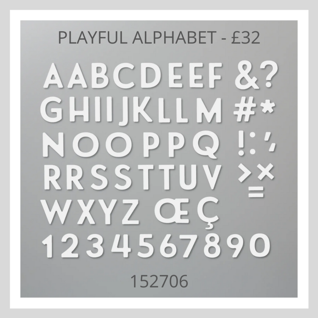 Playful Alphabet die set from Stampin' Up! a must have for any scrapbooker
