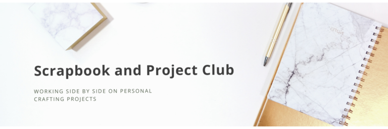 A graphic showcasing the Scrapbook and Project Club