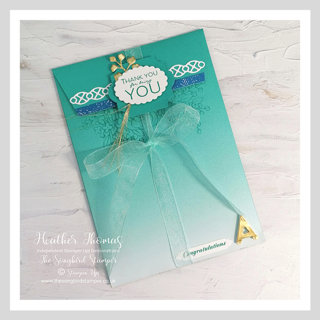 A handmade envelope to match the a special greetings card