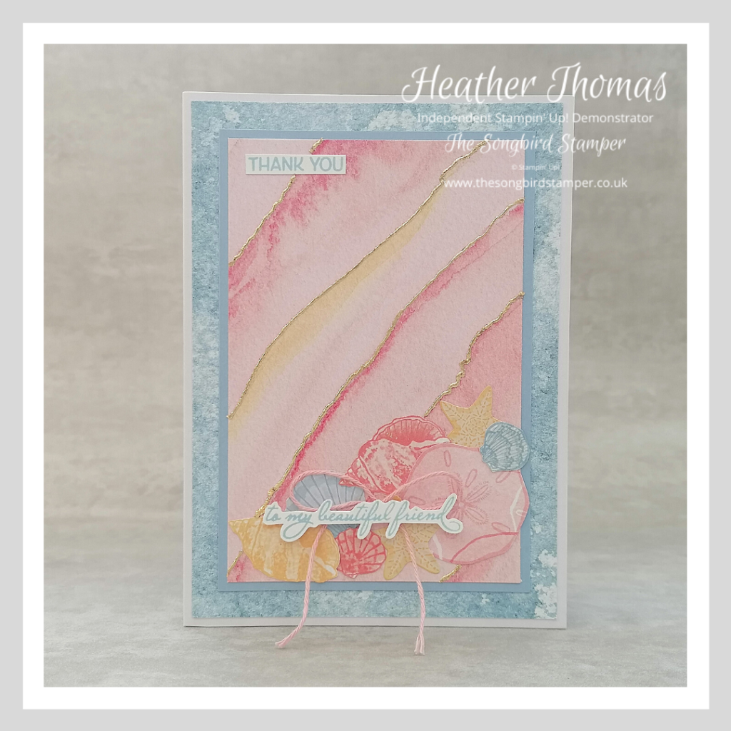 A handmade card using the Sand and Sea Suite from Stampin' Up!