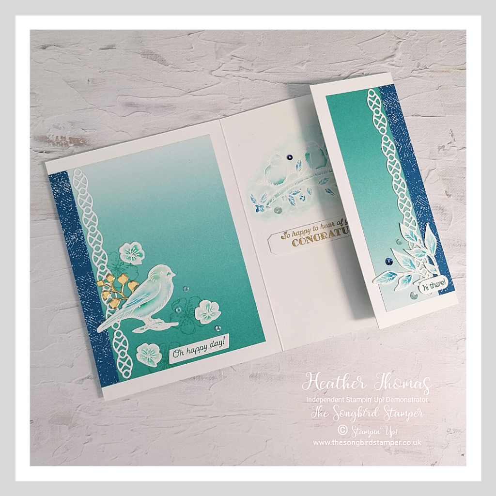 A hanmade card using Free as a Bird stamp set from Stampin' Up!